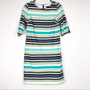 New Directions Striped Quarter Sleeve Dress Size 6